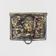 Gilt-silver ceremonial box lid