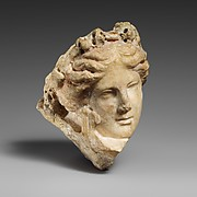 Marble head of a young woman, perhaps a muse