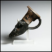 Terracotta rhyton (vase for libations or drinking)