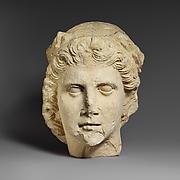 Limestone head of Apollo