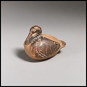 Terracotta vase in the form of a duck