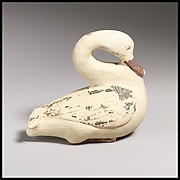 Terracotta vase in the form of a swan