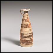 Terracotta alabastron (perfume vase)