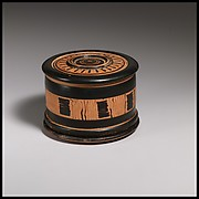 Terracotta pyxis (cosmetic box)