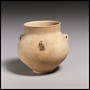 Terracotta collar-necked jar