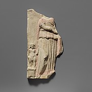 Limestone votive relief fragment