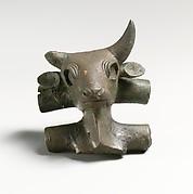 Bronze bull's head