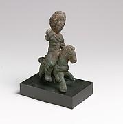 Bronze statuette of a horseman