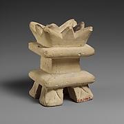Limestone incense burner on four legs