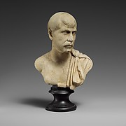 Marble bust of a man