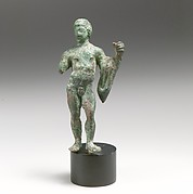 Bronze statuette of a youth with a chlamys