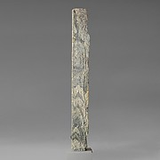 Two marble pilasters