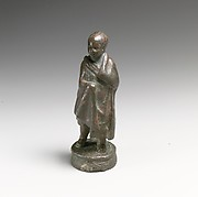 Bronze statuette of a boy in the pose of an orator