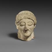 Female limestone head
