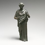 Bronze statuette of a woman, perhaps a Hesperid