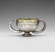 Gilded silver cup with two handles