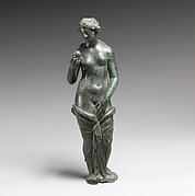 Bronze statuette of Aphrodite with silver eyes