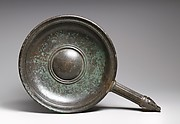 Bronze patera (shallow bowl with handle)