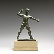 Bronze statuette of a hunter