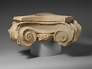 Limestone votive Ionic capital