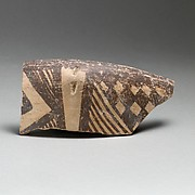 Terracotta rim of a bowl