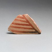 Terracotta sherd with linear decoration