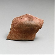 Terracotta rim fragment with horizontal rolled handle