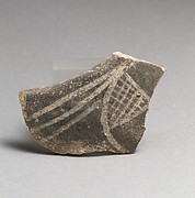 Terracotta rim fragment with hatched triangle