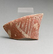 Terracotta rim fragment with linear motifs