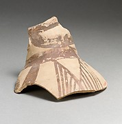 Terracotta jug fragment with bands and hatched triangles