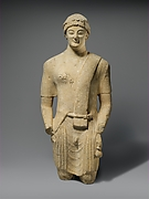 Limestone statue of a male votary