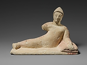 Limestone statuette of a recumbent votary (worshipper)