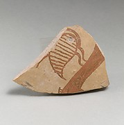 Terracotta vessel fragment (probably from a krater) with bird