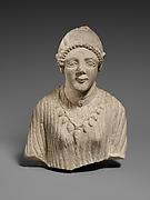 Limestone upper body of a woman
