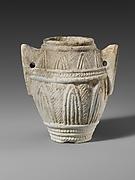 Miniature limestone amphora (jar)