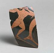 Fragment of a terracotta kylix: eye-cup  (drinking cup)