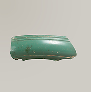 Glass monochrome dish fragment