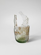 Glass fragmentary bottle