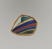 Glass striped mosaic bowl fragment