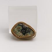 Glass mosaic carinated bowl fragment