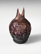 Glass double head-shaped flask