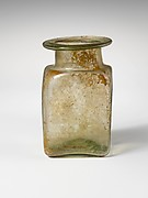 Glass square jar
