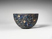 Mosaic glass hemispherical bowl