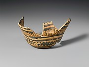 Terracotta vase in the form of a basket