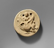 Terracotta disk with Aphrodite riding on a swan