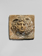 Terracotta relief plaque with head of Medusa