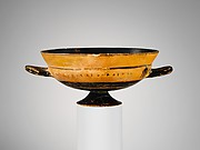 Terracotta kylix: Siana cup (drinking cup)