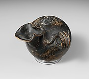 Terracotta inkwell