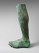 Bronze left leg and foot