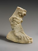 Marble right foot wearing a sandal